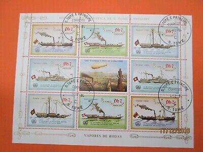 BOAT SHIP BATEAU BOOT SCHIF BARCO  (ALV078)  S TOME E PRINCIPE 1984