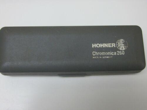 Hohner Chromonica 260 harmonica-key of C,hardshell case,10 holes,very nice