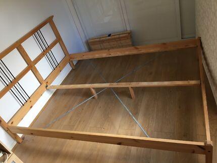 IKEA Queen Size Wooden Bedframe