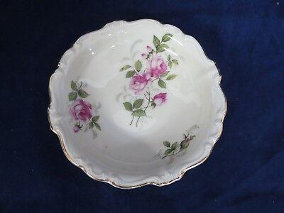 """Vintage Rosenthal Pompadour Courtship Fruit Bowl (s) Pink Roses Gold 5 1/4"""""""