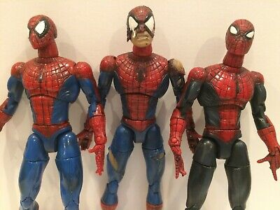 "Lot of 3 Marvel Entertainment 2001 Spider-Man Articulated 6"" Action Figures"