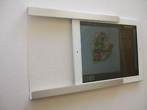 Support fixation murale en aluminium pour ipad mini avec for Fixation murale sans trou