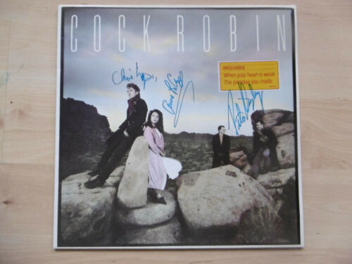 """Cock Robin Autogramme signed LP-Cover """"After Here Through Midland"""" Vinyl"""