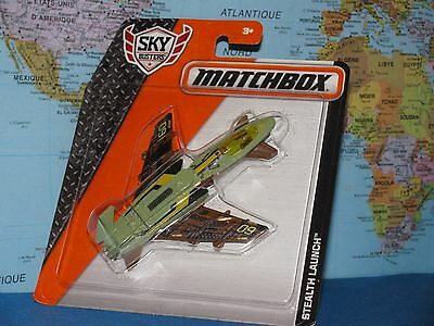 MATCHBOX MBX SKY BUSTERS STEALTH LAUNCH AIRPLANE BRAND NEW & VHTF