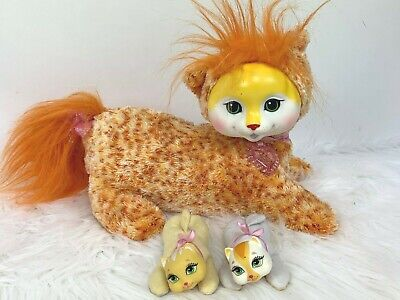 Kitty Surprise 2015 Orange Tabby with Collar 2 Kittens Cat Plush Toy Kaplan  for sale  Shipping to Canada
