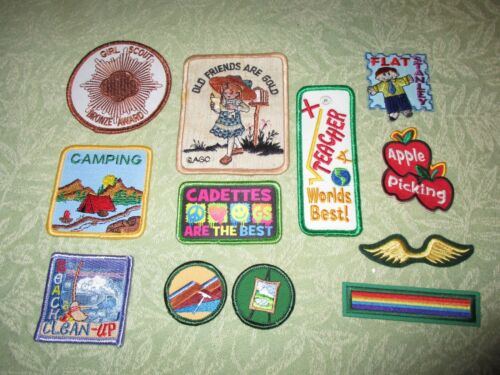 Lot of 12 Girl Scouts Badges/ Patches 2000-2011 New