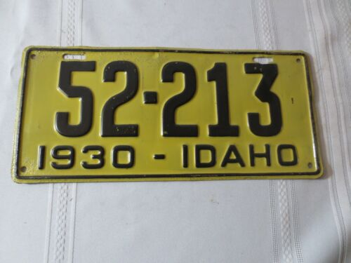 1930 IDAHO RESTORED LICENSE PLATE 52-213