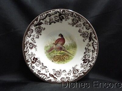 """Spode Woodland Pheasant Game Bird: Ascot Cereal / Soup Bowl, 8"""", NEW w/ Box"""