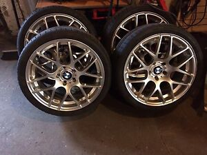 """19"""" staggered BMW vmr 710 wheels with newer tires only $1700"""