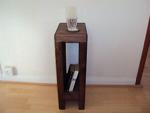 One chunky handmade bedside or side table 30cm x 30cm ebay for Wide side table