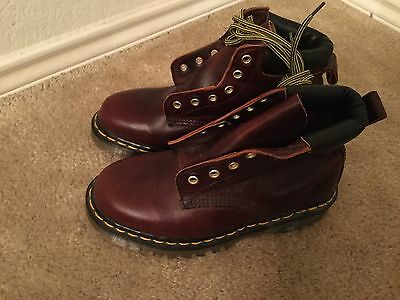 DR MARTENS KIDS DELANEY CHERRY RED BOOTS SIZES 3 UK2 # 123365 - Kids Red Dr Martens