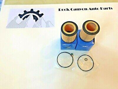 A Pair Set  Engine Oil Filters Mann HU816X 11427541827 For BMW E60 E71 E82 E88