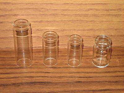 Glass Bottle Guitar Slides - 4 Clear Slide Sample - Coricidin / Coricedin - New