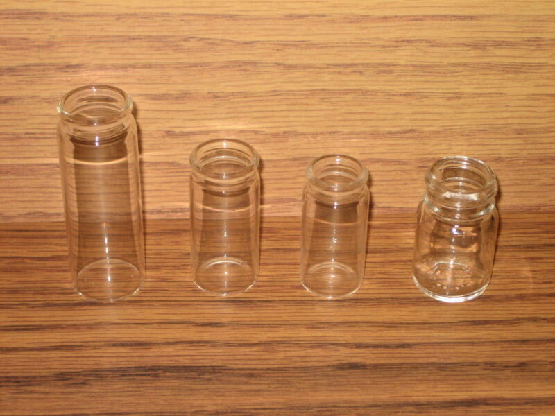 Blooze Bottle Glass Guitar Slides - 4 Clear Slide Sampler - New - Great Tone