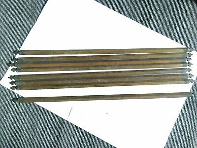 8 x Vintage Brass Stair Rods - 27