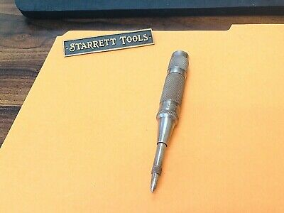 L.s. Starrett No.18b Spring Loaded Automatic Center Punch. Made In The Usa.