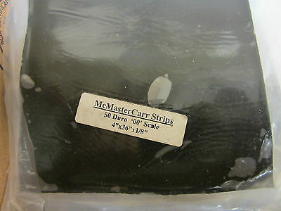 12   Mcmaster Carr Strips 50 Duro 00 Scale 4 X36 X1 8