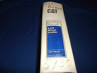 Cat Caterpillar 910f Wheel Loader Service Shop Repair Book Manual Sn 1sf1100-up