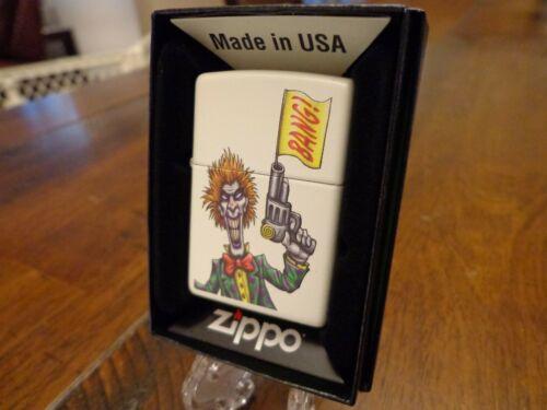 SCARY CLOWN PISTOL BANG CARTOON GUN ZIPPO LIGHTER MINT IN BOX