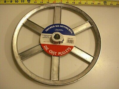 0471. Die Cast Pulley 12 Dia. 34 Bore V-belt A 6-spokes