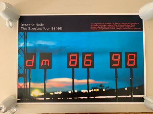 DEPECHE MODE,THE SINGLES TOUR, 86/98, RARE AUTHENTIC 2006 POSTER