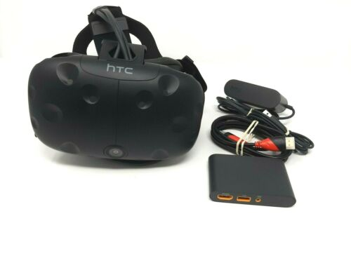HTC VIVE VR Headset with Link Box and Cables - Virtual Reality Headset