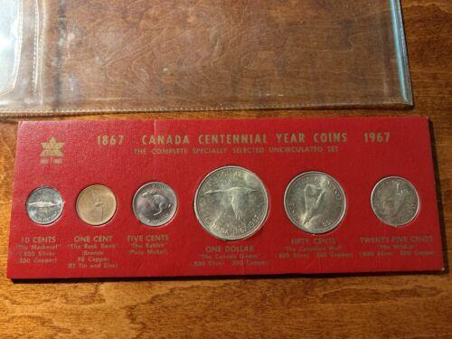 CANADA CENTENNIAL YEAR COINS 1967