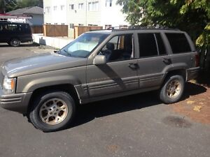 96 Jeep Grand Cherokee Limited as is
