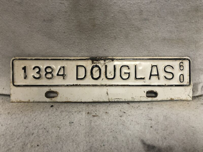 Vintage 1960 Douglas, Georgia License Plate