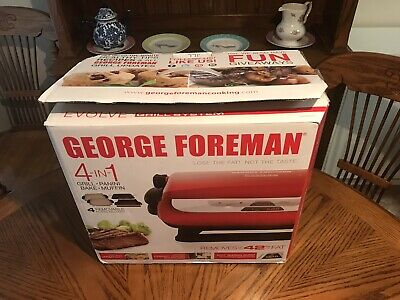George Foreman 5-Serving Multi-Plate Evolve Grill System with Ceramic Plates,..., used for sale  Houston
