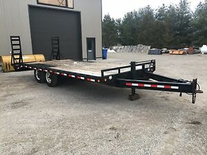 2007 PJ Deckover 7 Ton equipment float trailer