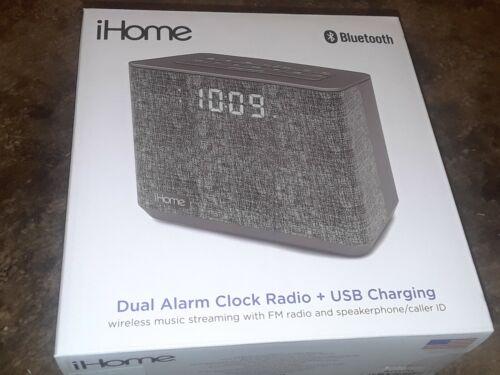 iHome iBT232 Bluetooth Dual Alarm FM Clock Radio with