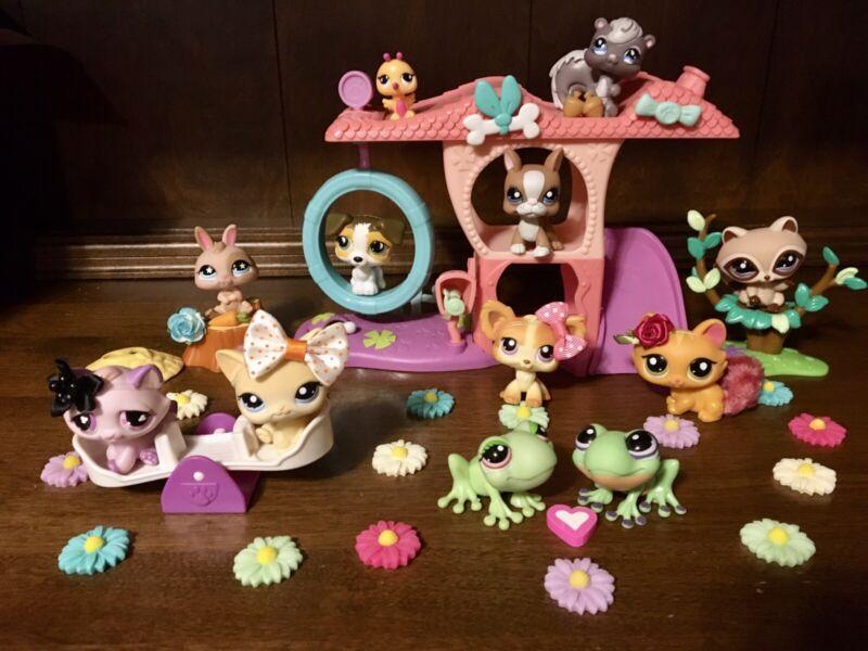 Authentic Littlest Pet Shop Playful Pets Park~11+ Pets-Great 🎁!🐾