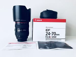 Canon EF 24-70mm f/2.8L Mark I USM Zoom Lens (Mint Condition)
