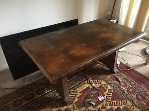 Free hard wood table/desk Burwood Burwood Area Preview