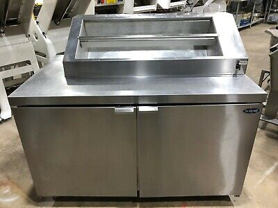 Norlake Zf152sms0 Ice Cream Topping Cabinet Freezer Refrigerated Rail 54 Wide