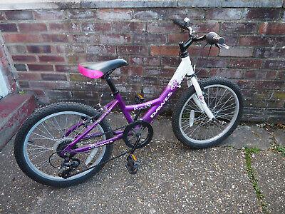 "Dawes Venus purple and white Kids bike 20"" wheels"