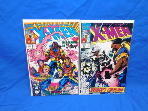 UNCANNY X-MEN #282 & 283 VF/NM 1st Cameo & Full Appearance Of Bishop