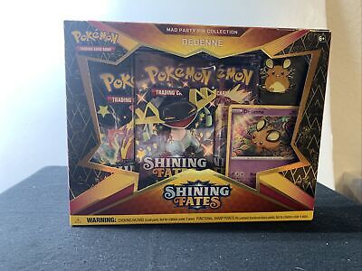 Pokemon Shining Fates Mad Party Pin Collection Dedenne Factory Sealed 2021