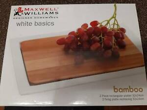 Maxwell Williams White Basics Bamboo Platter Chester Hill Bankstown Area Preview