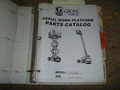 Grove Manlift Amz66 Rough Terrain Lift Aerial Platform Boom Parts Catalog Manual