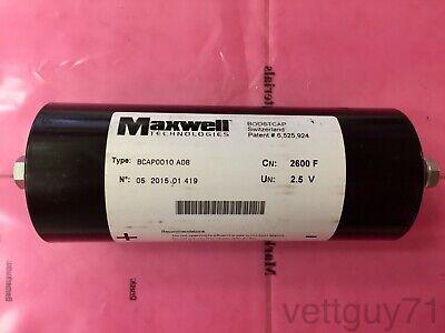 Maxwell Boostcap 2600f 2.5v 2.8v Surge Ultra-capacitor Bcap0010 Super