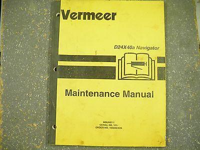 Vermeer D24x40a Navigator Maintenance Manual Sn101-