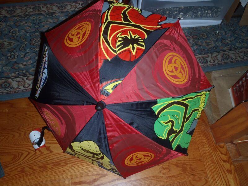 "Power Rangers Group Kids 20""  Umbrella with Fgiure Handle -BRAND NEW w/ TAGS"