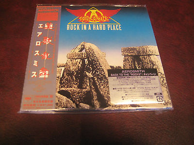 Aerosmith Rock In A Hard Place Japan Replica Obi Tremendously Rare Limited Cd