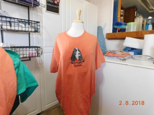 NEW  I LOVE MY  SPRINGER SPANIEL  EMBROIDERED T-SHIRT ADD NAME FOR FREE
