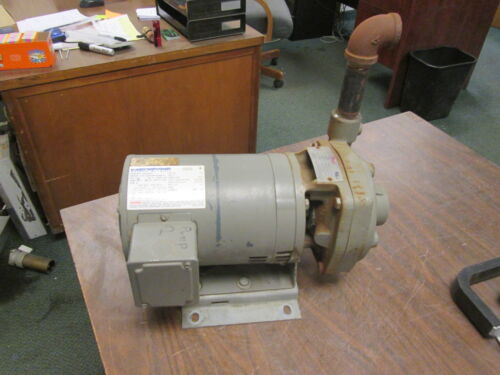Flowserve Model P-296A Pump w/ Motor 1.5X1X5 2000 85GPM 75TDH 230V 3HP 8.2A Used