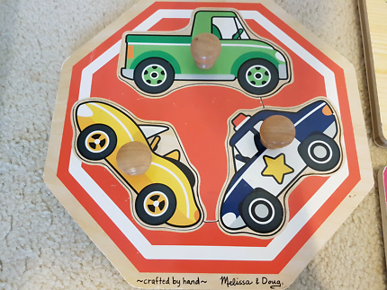 Toddler Wooden Car Puzzle - perfect 1st puzzle