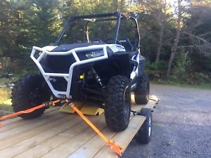 Polaris rzr front and rear deluxe bumper and rock sliders