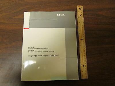 Hp 4155b 4156b Semiconductor Parameter Analyzer Sample Applications Manual